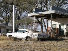 *Abandoned gas station, abandoned car...Marc Heiden Glenrio, Texas