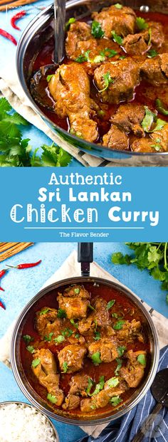 Learn how to make Authentic Sri Lankan Chicken Curry with these tips and variations for the best ever chicken curry with or without coconut milk! Spicy, flavorful and fragrant! #SriLankanFood #Curryrecipes #BestChickenCurry  via @theflavorbender