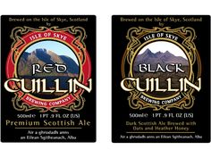 Wonderful beer to be had at the Isle of Skye Brewery in Uig, Isle of Skye! Red Cuillin, Black Cuillin, Hebridean Gold, and Cuillin Beast the Champion Beer of Scotland! And many more real ales! http://www.skyebrewery.co.uk/