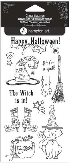 Hampton Art - Clear Acrylic Stamps - Halloween - If the Witch is In at Scrapbook.com