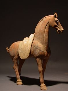 Beautiful Tang Dynasty Tomb Pottery Painted Horse