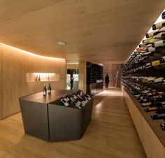 Image 7 of 15 from gallery of Mistral Wine Store / Studio Arthur Casas. Photograph by Fernando Guerra Wine Cellar Design, Wine Design, Wine Shelves, Wine Storage, Fritz Cola, Studio Arthur Casas, Wine Wallpaper, Whisky Shop, Interior Architecture