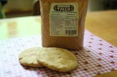 Galletas y pan con harina de garbanzo