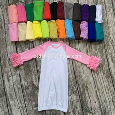 Factory price 18 colour 0-2T girls clothes o-neck baby gown kids icing ruffle ra... - #02T #Baby #clothes #colour #factory #girls #gown #icing #kids #oneck #price #ruffle 2t Girl Clothes, Clothing Co, Children Clothing, Autumn T Shirts, Baby Gown, Casual Fall, Casual Tops, Icing, Casual Dresses