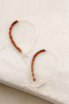 Adira Beaded Hoops #anthrofave