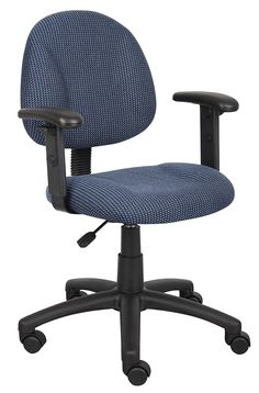 Boss Office Products B316-BE Perfect Posture Delux Fabric Task Chair with Adjustable Arms in Blue *** You can get more details by clicking on the image. (This is an affiliate link) #HomeDecorTips