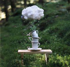 Tempestade em xícara de chá #nuvem