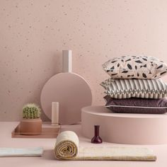 Webshop Scandinavian design - Ferm Living Confetti roze behang