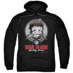 Black Hooded Sweatshirt, Black Hoodie, Hooded Sweatshirts, Betty Boop, Thing 1, Leather Hats, Cool Hoodies, Graphic Shirts, Order Prints