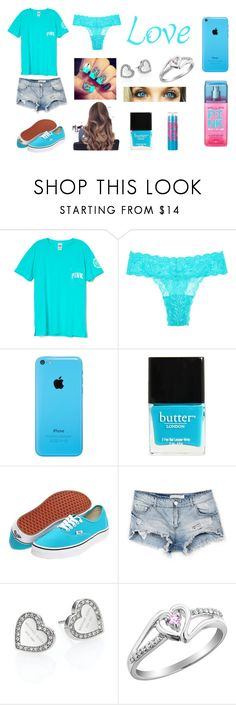 """It's a Blue Kinda Day"" by sadiemay42 ❤ liked on Polyvore featuring Cosabella, Victoria's Secret, Butter London, Vans, Maybelline, Bershka and Michael Kors"