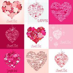 バレンタイングリーティングカードベクトル