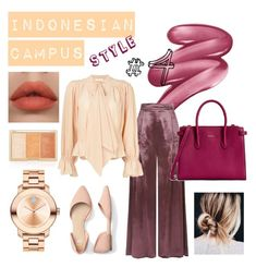 """""""INDONESIAN CAMPUS #4"""" by kenanidhyaip on Polyvore featuring Clinique, Temperley London, Chloé, Movado and Furla"""