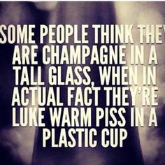 I am the Champs in the tall glass!