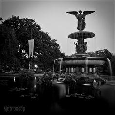 Black and White Photos of The Bethesda Fountain in Central Park - Metroscap.com
