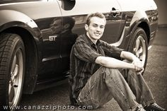 Senior picture idea - my boy loves his car