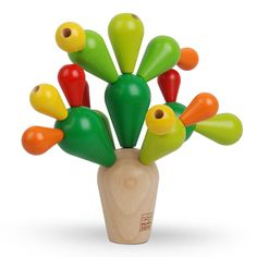 Plan Toys balancing cactus 3 jr+ concentratie en gezond verstand