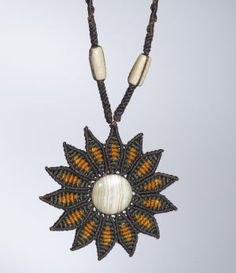 Macrame Flower Necklace by Coco Paniora Salinas