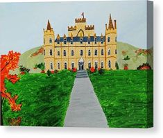 Scotland Canvas Print featuring the painting Scenic scotland castle by Nandini Suresh