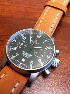 A Poljot Aviator watch. Great styling.