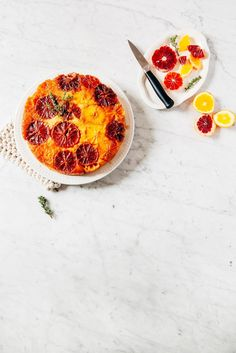 orange thyme upside down cake - hummingbird high | a desserts and baking blog