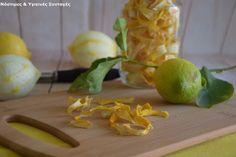 Νόστιμες κ Υγιεινές Συνταγές: Φλούδες λεμονιών. Αποξήρανση, οφέλη και χρήσεις!