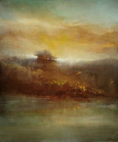 """My oil painting """"Across The River"""" is featured in a curated collection entitled """"Indulge"""" at Saatchi Art. #art"""