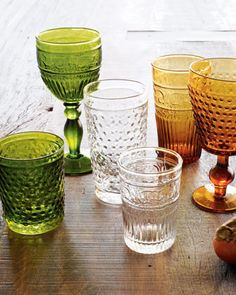 Four swirl juice glasses - Horchow