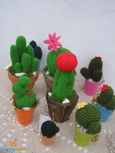 Ornaments – CROCHET CACTUS – a unique product by cucali on DaWanda