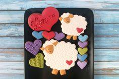 Love Ewe Valentines Day Decorated Cookies (Tutorial)