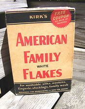 """VTG-COLLECT. """"AMERICAN FAMILY WHITE FLAKES"""" LAUNDRY SOAP-ORIG. BOX--NEVER OPENED"""