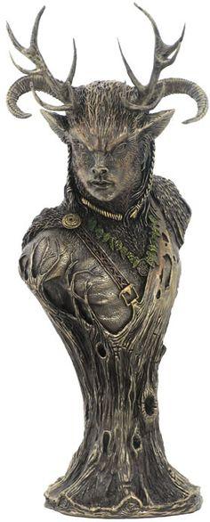Celtic God Cernunnos Statue Sculpture Statue Figurine available at… Cernunnos, Celtic, Goddess, Deities, Statue, Witch, Sculpture, Mythology, Pagan