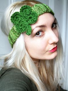 Lucky Clover Headband  Irish Headband by AllYouNeedIsPugShop, $16.00 #headband #hair #stpatricksday #irish