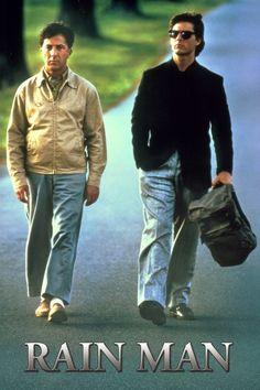 Rain Man Poster Artwork - Dustin Hoffman, Tom Cruise, Valeria Golino - http://www.movie-poster-artwork-finder.com/rain-man-poster-artwork-dustin-hoffman-tom-cruise-valeria-golino/