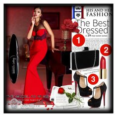 """""""Party with His&HerFashion!!!"""" by sirena39 ❤ liked on Polyvore featuring Christian Louboutin, Maybelline and his"""
