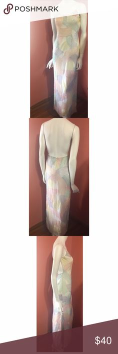 Open back formal Morgan & Company by Linda Bernell sz 3/4. Great condition. Back zipper two side slips Dresses Maxi