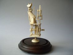 NAPOLEONIC FRENCH PRISONER OF WAR SPINNING JENNY CA. 1795-1851 Prisoners Of War, Automata, Horns, Shells, Miniatures, Ivory, Carving, Pincushions, Antiques