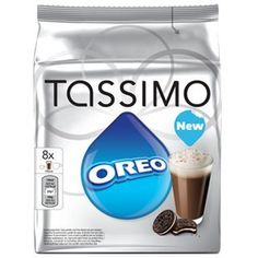 Tassimo Oreo Pods - Exclusive to Tassimo, the most popular cookie in the world is now available as a delicious hot drink pod. For kids of all ages, the new Tassimo Oreo drink is a deliciously creamy treat, with a real Oreo cookie taste. Best Travel Coffee Mug, Coffee Pack, Drink Coffee, Chocolate Pack, Hot Chocolate, Tassimo Coffee Pods, French Vanilla Creamer, Coffee Games, Snacks
