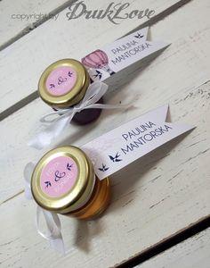 2w1 czyli prezent i winietka MIÓD lub KONFITURA w Druk Love na DaWanda.com