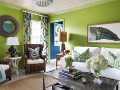 Neglected Space, Transformed in Combo Guest Bedroom and Media Room Ideas from HGTV