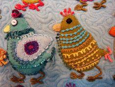 Bird Play #1 by Sue Spargo, detail