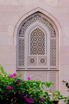 Oman   Window Panel, Sultan Qaboos Grand Mosque in Muscat. credit: Andrew Moore…