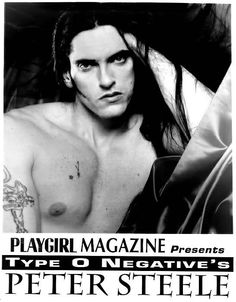 Peter Steele of Type O-Negative posed nude for Playgirl Magazine, Aug. 1995