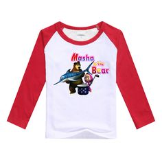 Boys t shirts masha and the bear 2016 girls clothing colorful cute pattern long Sleeve girls clothes cotton character T-shirt #>=#>=#>=#>=#> Click on the pin to check out discount price, color, size, shipping, etc. Save and like it!