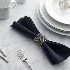 Angle Napkin Ring | Crate and Barrel