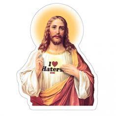 DGK Skateboards DGK Jesus Loves Haters Sticker