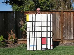 Costume based on Piet Mondrian painting. Image: Windell Oskay