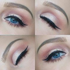 Pretty Everyday Makeup Look for Blue Eyes