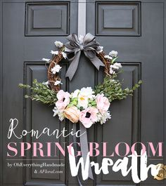Romantic Spring Bloom Wreath Tutorial by OhEverythingHandmade