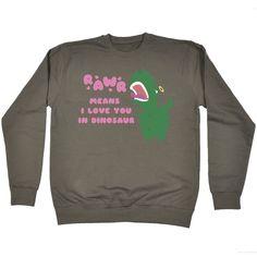 123t USA Rawr Means I Love You In Dinosaur T-Rex Design Funny Sweatshirt