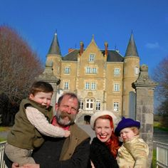 Dick and Angel Strawbridge and family - renovating French chateau Angel Adoree, Angel Strawbridge, Chateau De Gudanes, French Castles, Young Family, French Chateau, Vintage Love, French Vintage, Design Museum